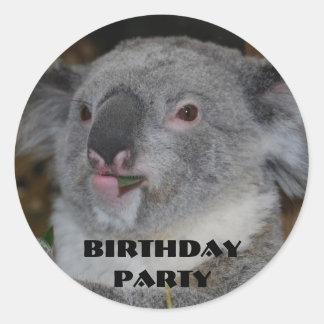 Pegatinas de la fiesta de cumpleaños del parque pegatina redonda