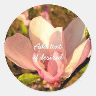 Pegatinas de la flor de la magnolia pegatina redonda