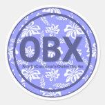 Pegatinas de la flor de OBX Outer Banks NC Pegatina Redonda