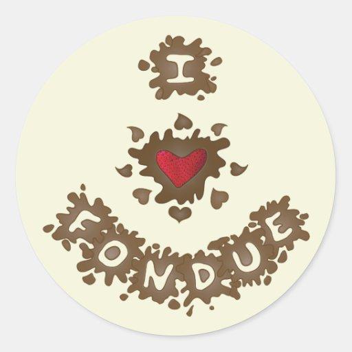 "Pegatinas de la ""fondue"" del amor"