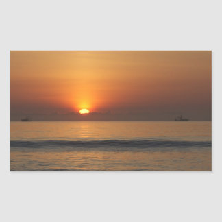 Pegatinas de la foto de color de la salida del sol rectangular pegatinas