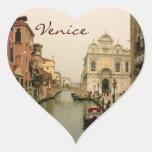 Pegatinas de la foto de Venecia del corazón Calcomania De Corazon