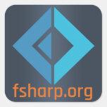 Pegatinas de la fundación del software de F# Colcomania Cuadrada