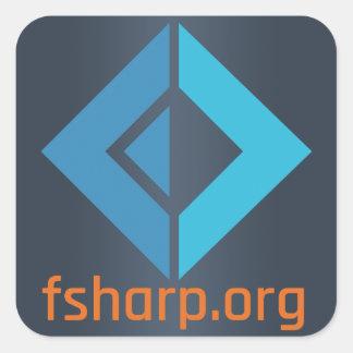 Pegatinas de la fundación del software de F# Pegatina Cuadrada