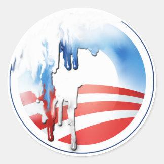 Pegatinas de la fusión de Obama Pegatina Redonda
