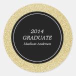 Pegatinas de la graduación de la colección el | pegatina redonda