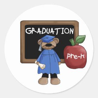 Pegatinas de la graduación de Pre-K Etiquetas Redondas