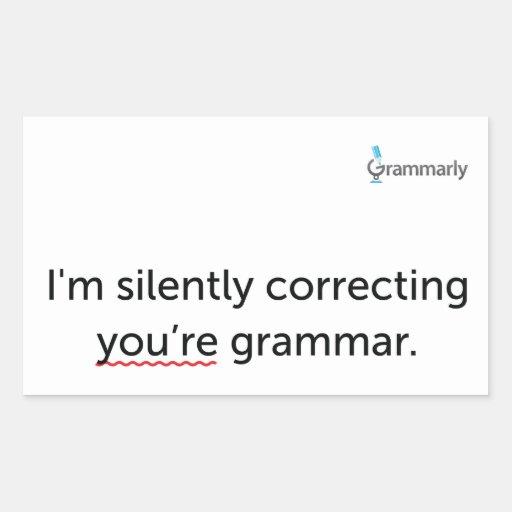 Pegatinas de la gramática pegatina rectangular