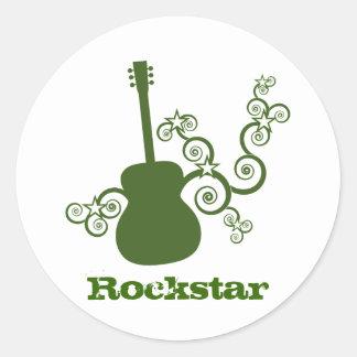 Pegatinas de la guitarra de Rockstar verdes