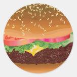Pegatinas de la hamburguesa