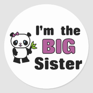 Pegatinas de la hermana grande pegatina redonda