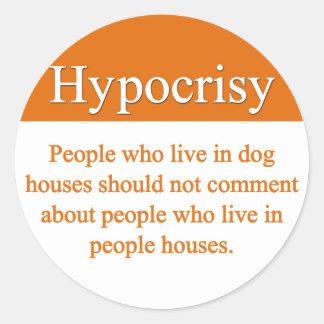 Pegatinas de la hipocresía pegatina redonda