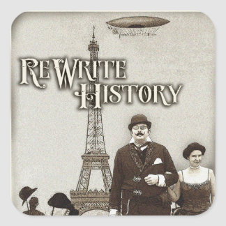 Pegatinas de la historia de la reescritura pegatina cuadrada