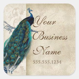 Pegatinas de la identificación del negocio del pegatina cuadrada
