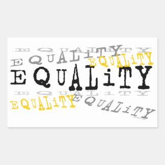 Pegatinas de la igualdad rectangular pegatinas