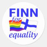 Pegatinas de la igualdad del Finn 4 Pegatina Redonda