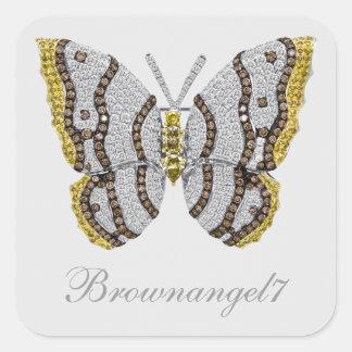 Pegatinas de la impresión de la mariposa del