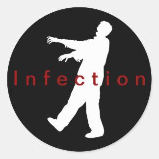 Pegatinas de la infección pegatina redonda