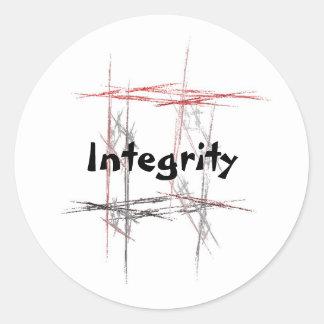 Pegatinas de la integridad de los artes marciales pegatina redonda