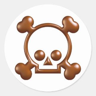 ¡Pegatinas de la intervención del chocolate.! Etiqueta Redonda