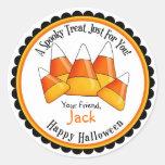 Pegatinas de la invitación de Halloween de las Pegatina Redonda