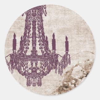 Pegatinas de la lámpara del vintage - pegatina redonda