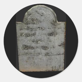 pegatinas de la lápida mortuoria pegatina redonda