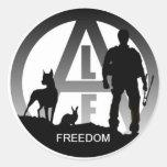 Pegatinas de la libertad del frente de liberación  etiquetas redondas