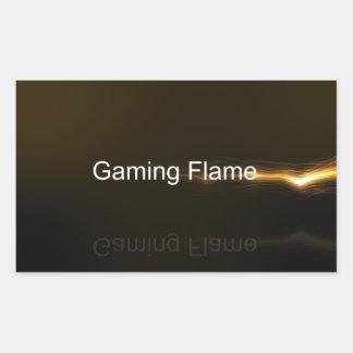 Pegatinas de la llama del juego pegatina rectangular