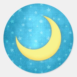 Pegatinas de la luna etiquetas redondas