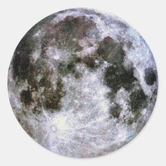 Pegatinas de la Luna Llena Pegatina Redonda