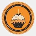 Pegatinas de la magdalena de Halloween Pegatina Redonda