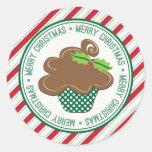 Pegatinas de la magdalena de las Felices Navidad