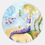 Pegatinas de la magia de la sirena pegatinas redondas