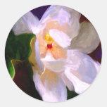 Pegatinas de la magnolia del carril de Dixie Pegatinas Redondas