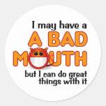 Pegatinas de la mala boca etiquetas redondas