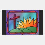 Pegatinas de la mañana de Pascua Rectangular Altavoces