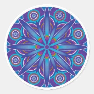 Pegatinas de la mandala de la abundancia pegatina redonda