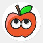 pegatinas de la manzana tonymacx86 pegatina redonda