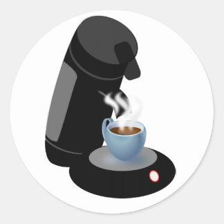 Pegatinas de la máquina del café pegatina redonda