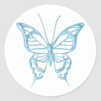 ¡Pegatinas de la mariposa del arándano.! Pegatinas Redondas