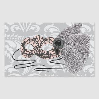 Pegatinas de la máscara de la mascarada del rosa y rectangular altavoz