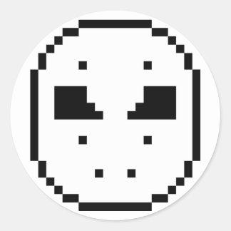 Pegatinas de la máscara del hockey pegatina redonda