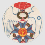 Pegatinas de la medalla de Legion d'Honneur de Etiqueta Redonda