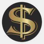 Pegatinas de la muestra de dólar pegatina redonda