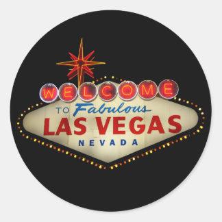 Pegatinas de la muestra de Las Vegas Pegatinas Redondas