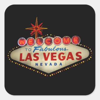 Pegatinas de la muestra de Las Vegas Pegatina Cuadrada