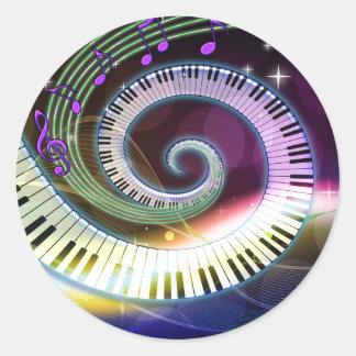 Pegatinas de la música 1 pegatina redonda