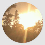 Pegatinas de la naturaleza pegatina redonda