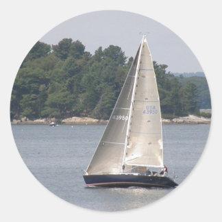 Pegatinas de la navegación de Maine Etiquetas Redondas